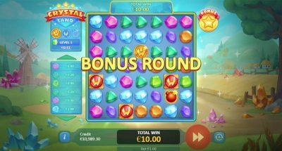 Hrací automat Crystal Land bonusová hra