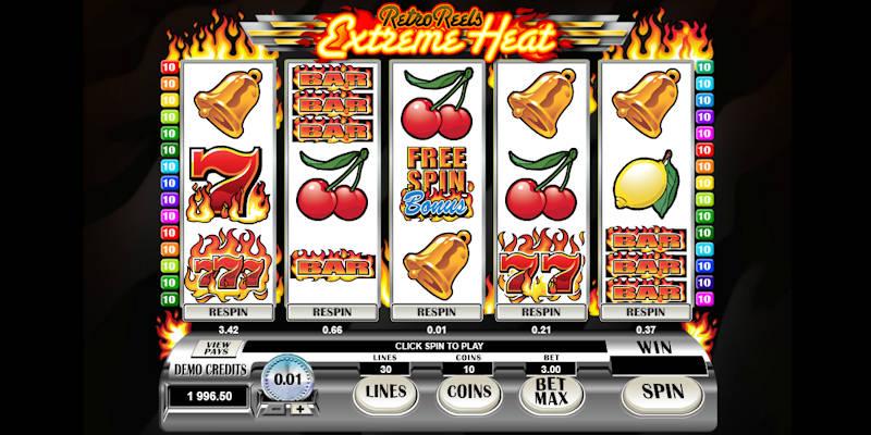 Retro reels extreme heat slot kasino