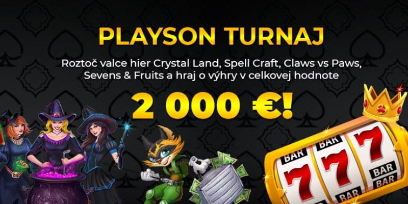 Playson turnaj slot kasino casino tipos etipos vyherne pristroje