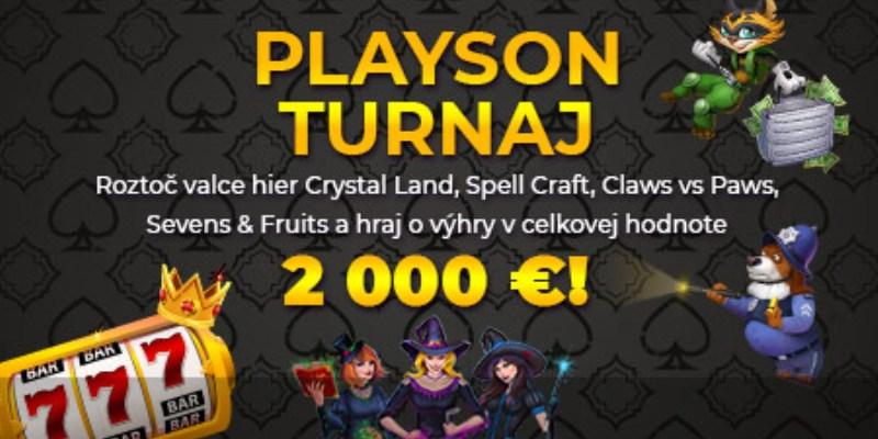Playson turnaj Tipos