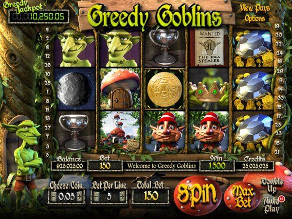 Automat greedy goblins etipos