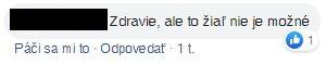 komentár FB