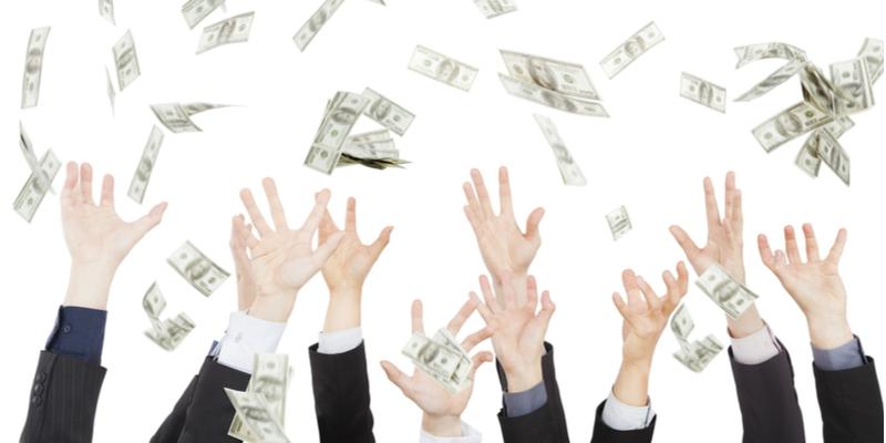 padajúce peniaze